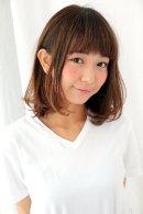 【GARDEN】ワンカールパーマ カジュアル耳かけミディ(羽田ひろむ)