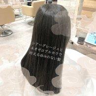 透け感と柔らかさをグレージュと髪質改善で