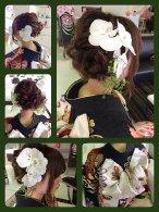 編み込み 花 アレンジヘア